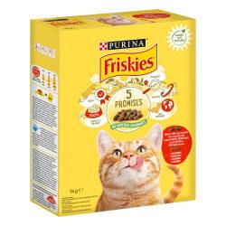 Friskies sausas maistas su jautiena, vištiena ir daržovėmis katėms