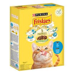 Friskies sausas maistas su lašiša ir daržovėmis katėms