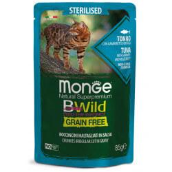 Monge BWild Sterilised konservai su tunu, krevetėmis ir daržovėmis sterilizuotoms katėms