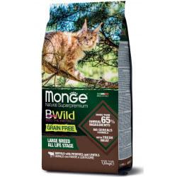 Monge BWild All Large Breeds begrūdis sausas maistas su buivoliena katėms