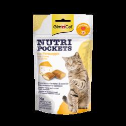 GimCat Nutri Pockets with Cheese & Taurine skanėstai katėms