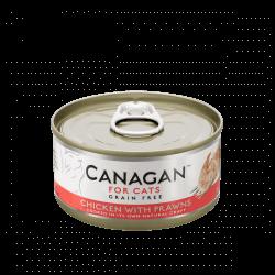 Canagan begrūdžiai konservai su vištiena ir didžiosiomis krevetėmis katėms