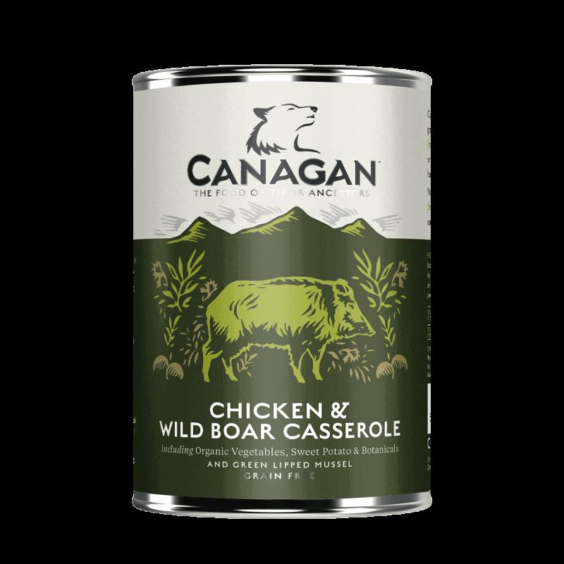 Canagan Chicken & Wild Boar konservai su vištiena ir troškinta šerniena šunims