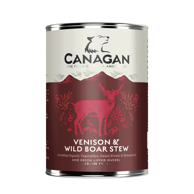 Canagan Venison & Wild Boar Stew konservai su elniena ir šerniena šunims