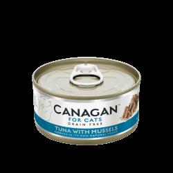 Canagan konservai su tunu ir midijomis natūraliose savo sultyse katėms