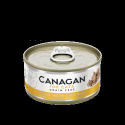 Canagan konservai su tunu ir vištiena natūraliose savo sultyse katėms