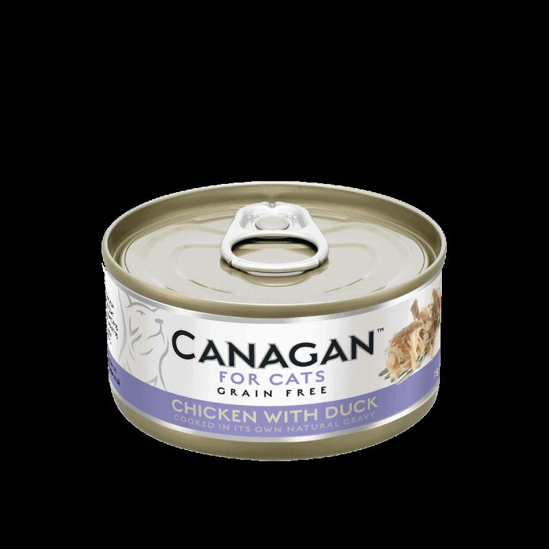 Canagan konservai su vištiena ir antiena natūraliose savo sultyse katėms