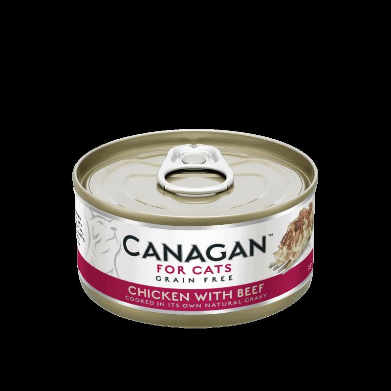 Canagan konservai su vištiena ir jautiena natūraliose savo sultyse katėms