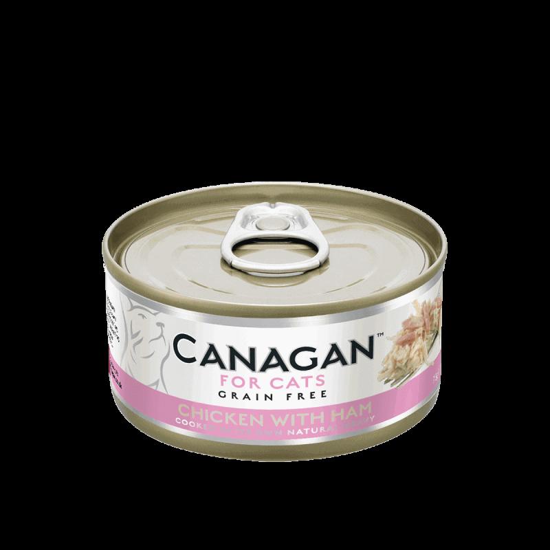 Canagan konservai su vištiena ir kumpiu natūraliose savo sultyse katėms
