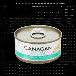 Canagan konservai su vištiena ir sardinėmis natūraliose savo sultyse katėms