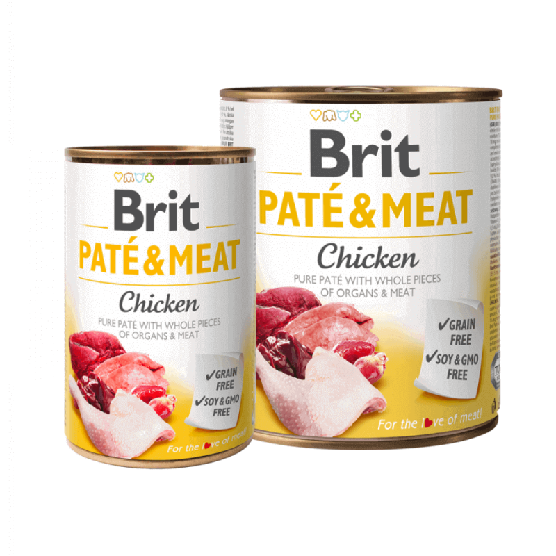 Brit Care Chicken Pate & Meat konservai šunims