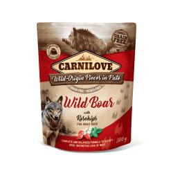 Carnilove Pate Wild Boar with Rosehips paštetas šunims