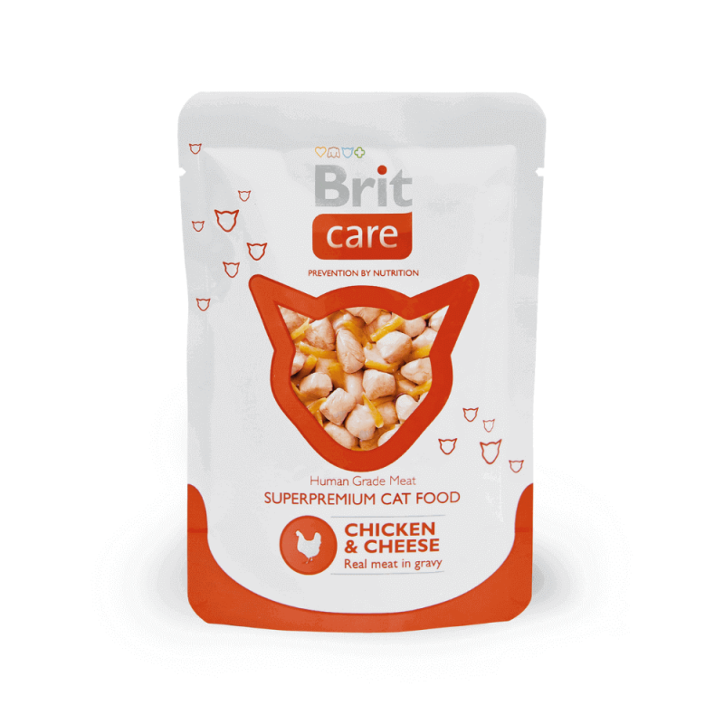 Brit Care Chicken & Cheese konservai katėms
