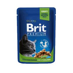 Brit Premium Chicken Slices Sterilized konservai katėms
