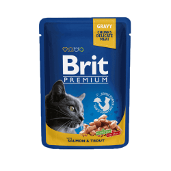 Brit Premium Salmon & Trout konservai katėms