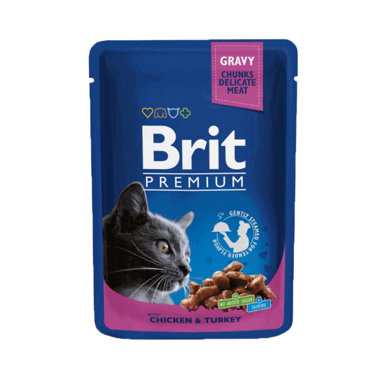 Brit Premium Chicken & Turkey konservai katėms