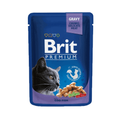 Brit Premium Cod Fish konservai katėms