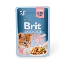 Brit Premium Delicate Chicken for Kitten in Gravy konservai katėms