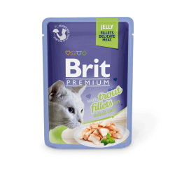 Brit Premium Delicate Trout in Jelly konservai katėms