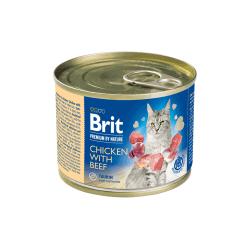 Brit Premium by Nature Chicken with Beef konservai katėms