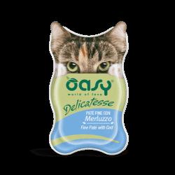 Oasy Delicatesse paštetas su menke suaugusioms katėms