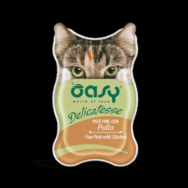 Oasy Delicatesse paštetas su vištiena suaugusioms katėms