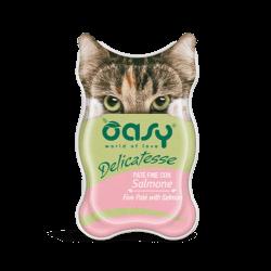 Oasy Delicatesse paštetas su lašiša suaugusioms katėms