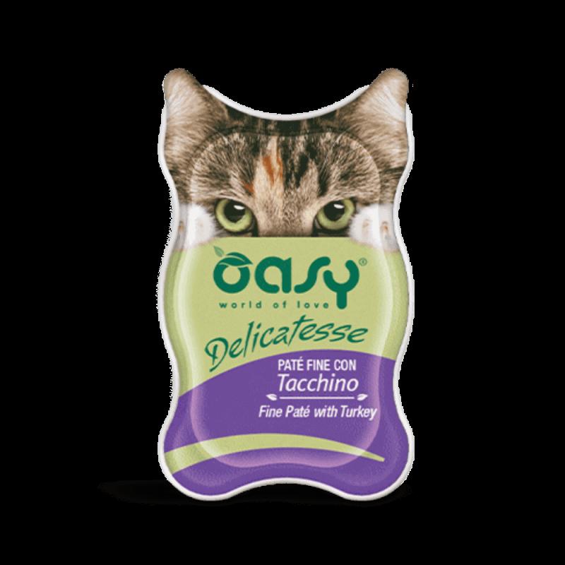 Oasy Delicatesse paštetas su kalakutiena suaugusioms katėms