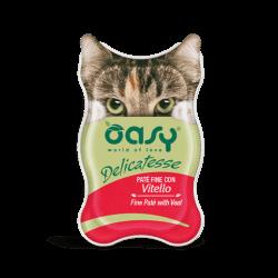 Oasy Delicatesse paštetas su veršiena suaugusioms katėms