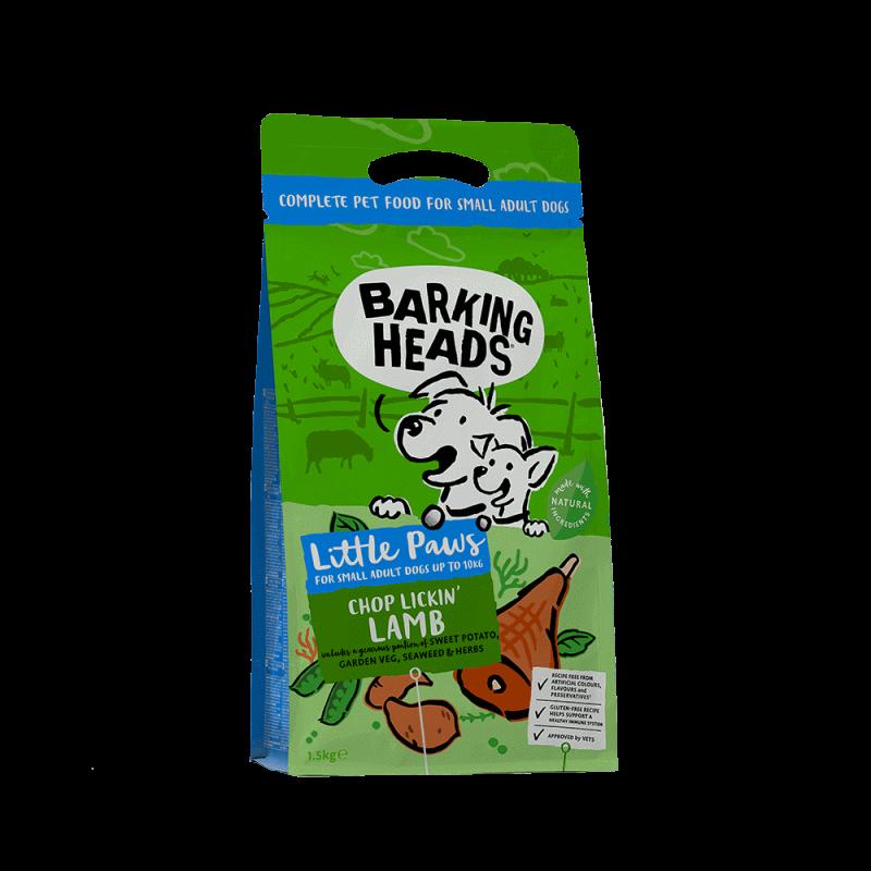Barking Heads Chop Lickin' Lamb sausas maistas su ėriena mažų veislių šunims 1.5 kg