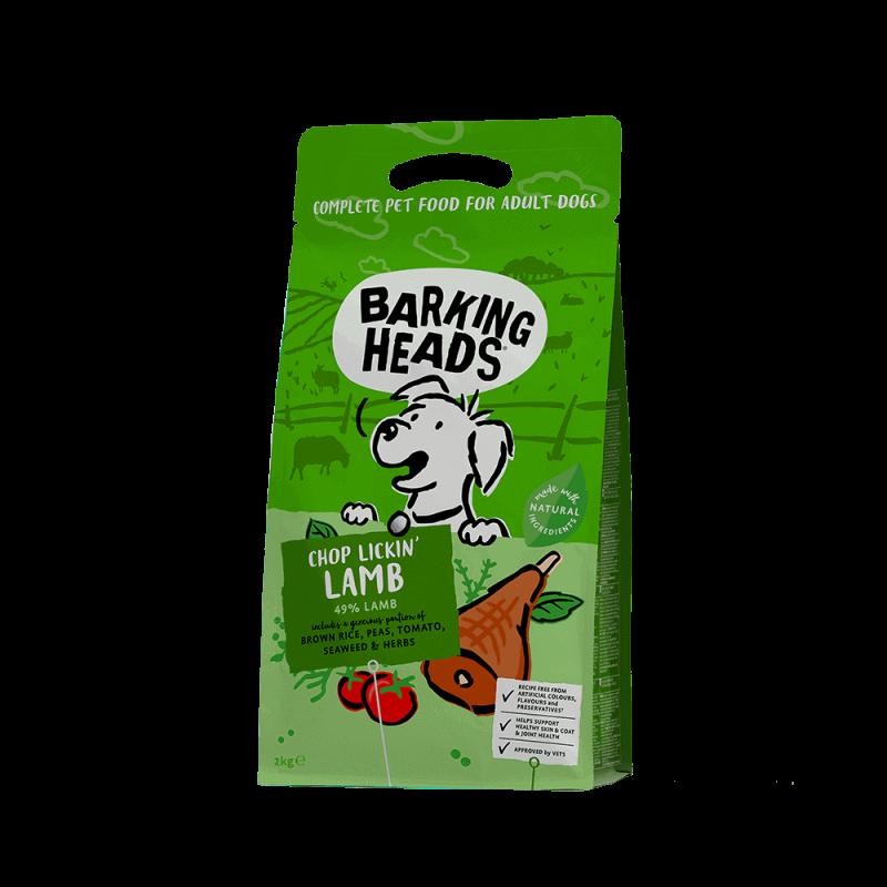 Barking Heads Chop Lickin' Lamb sausas maistas su ėriena mažų ir vidutinių veislių šunims 2 kg