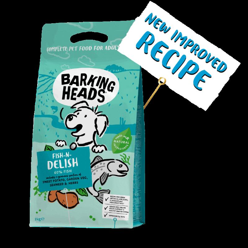 Barking Heads Fish N Delish sausas maistas su žuvimi šunims 2 kg