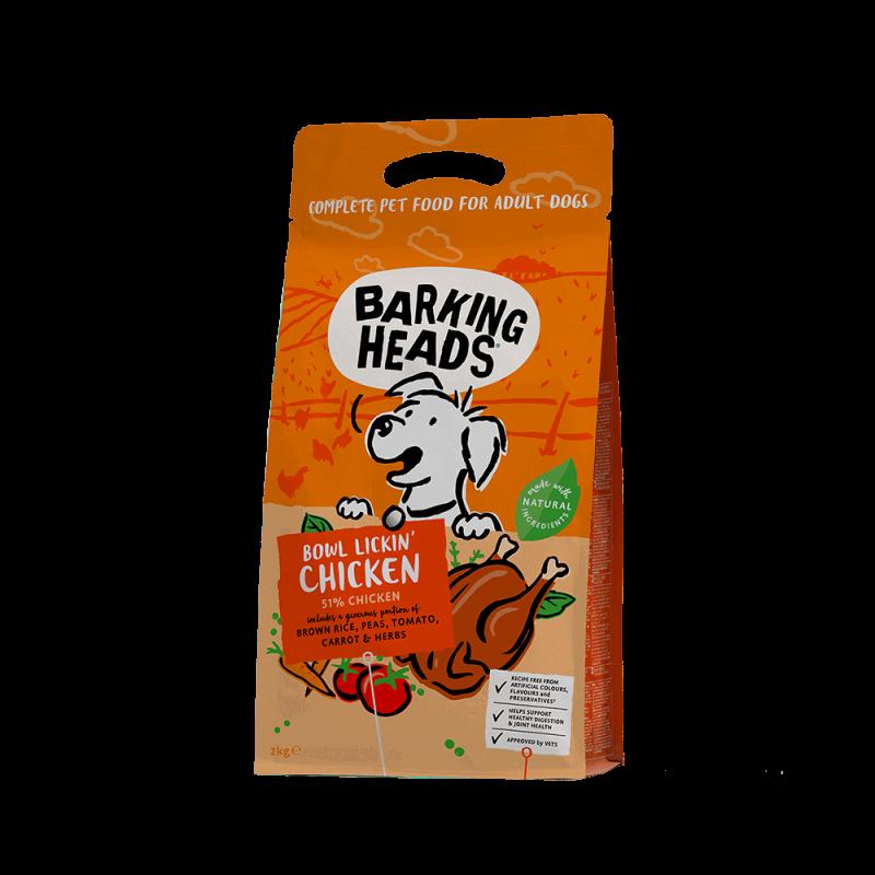 Barking Heads Bowl Lickin' Chicken sausas maistas su vištiena šunims 2 kg