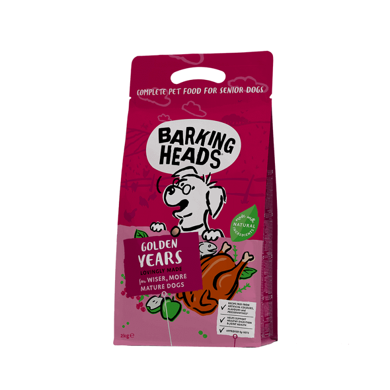Barking Heads Golden Years sausas maistas vyresnio amžiaus šunims 2 kg