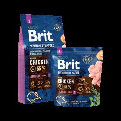 Brit Premium by Nature Junior S sausas maistas šunims