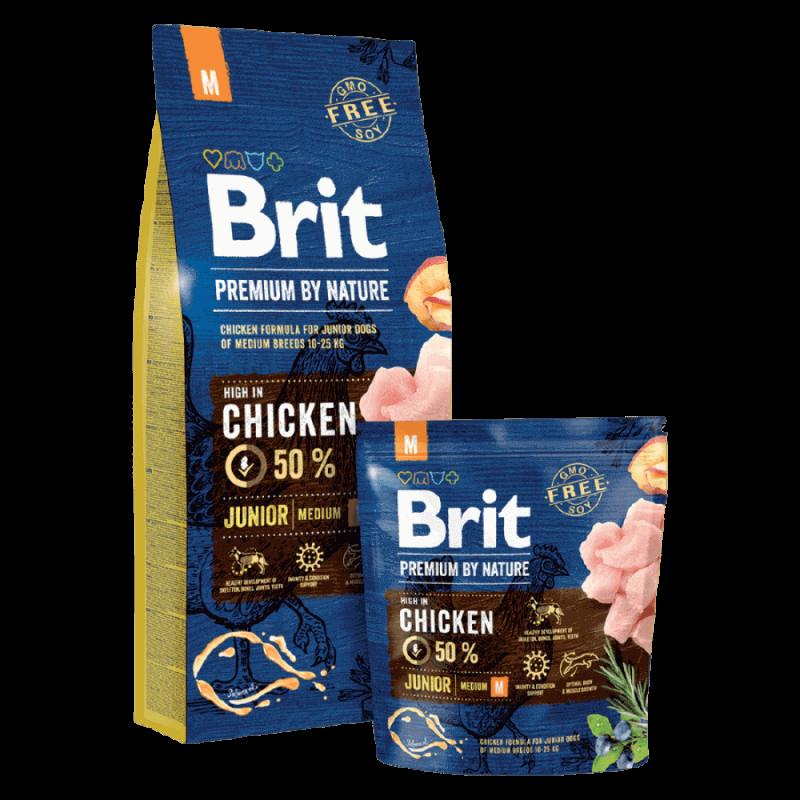 Brit Premium by Nature Junior M sausas maistas šunims