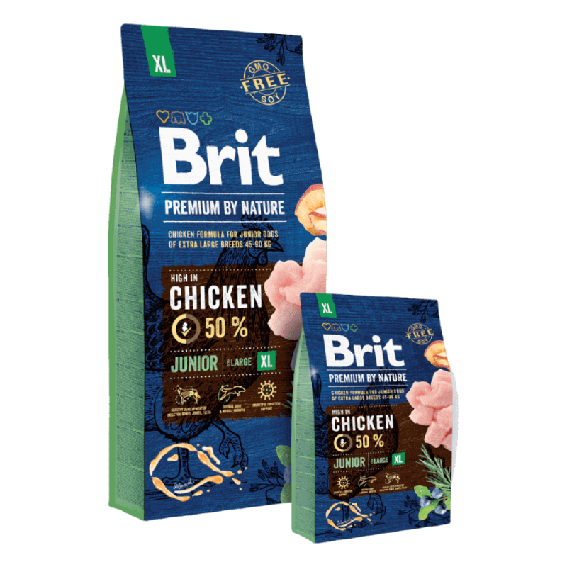 Brit Premium by Nature Junior XL sausas maistas šunims