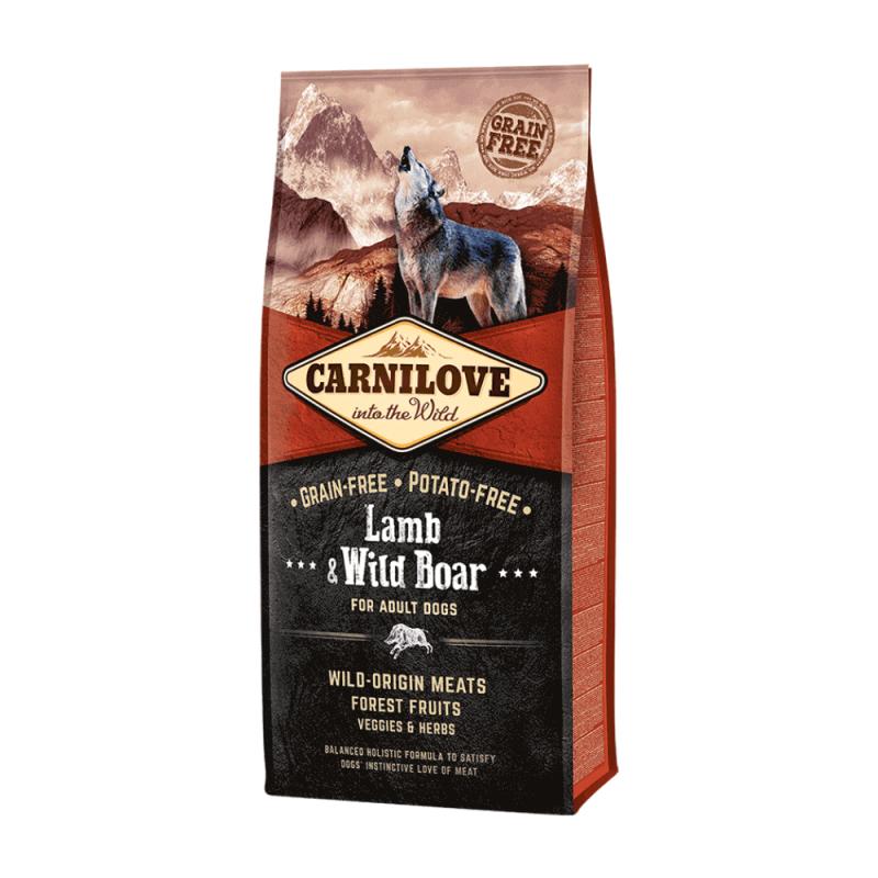 Carnilove Lamb & Wild Boar for Adult sausas maistas šunims