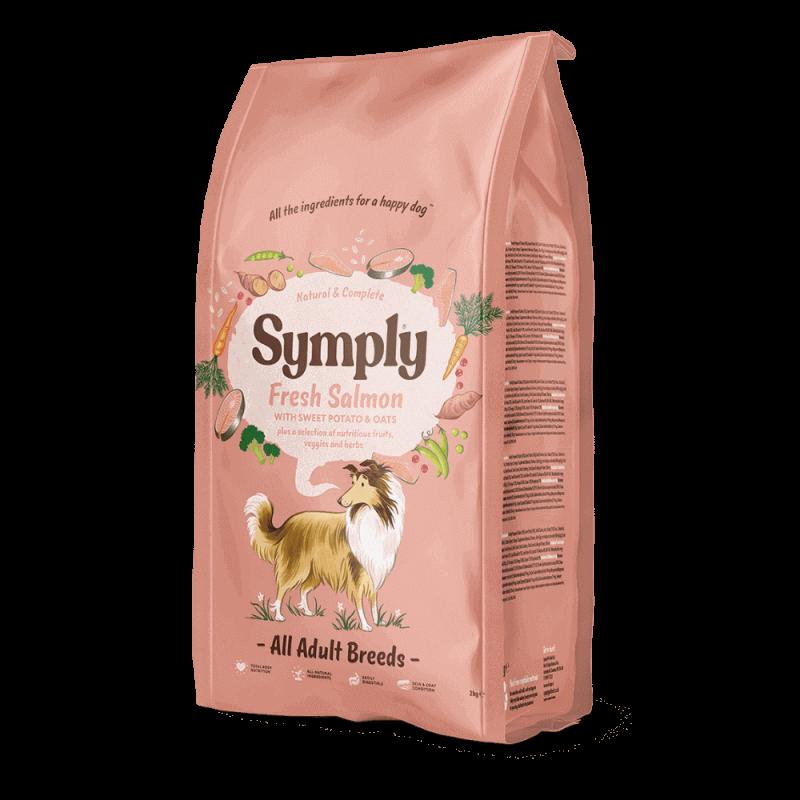 Symply Adult sausas maistas su šviežia lašiša suaugusiems visų veislių šunims