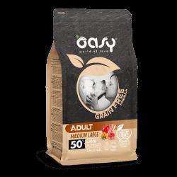 Oasy Grain Free Adult Medium & Large Lamb begrūdis sausas maistas su ėriena šunims
