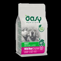 Oasy Adult Medium & Large Wild Boar sausas maistas su šerniena šunims