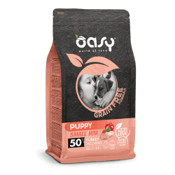 Oasy Grain Free Puppy Mini Turkey begrūdis sausas maistas su kalakutiena šuniukams