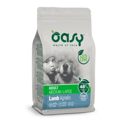 Oasy Adult Medium & Large Lamb sausas maistas su ėriena šunims