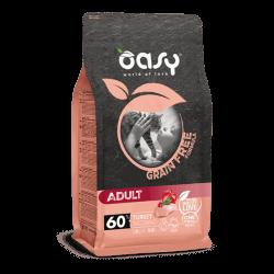 Oasy Grain Free Adult Cat Turkey begrūdis sausas maistas katėms