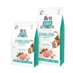 Brit Care Cat Sterilized sausas maistas sterilizuotoms katėms