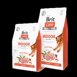 Brit Care Cat Indoor Anti-stress begrūdis sausas maistas katėms