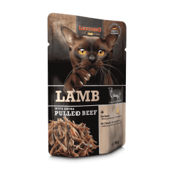 Leonardo Pulled Beef konservai su ėriena ir plėšyta jautiena katėms