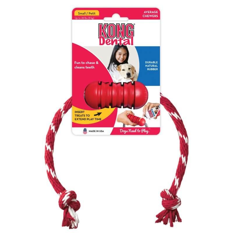 Kong Dental žaislas su virve šunims