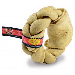 Pet's Up Bravo pintas riestainis iš odos kramtymui šunims - riešutų sviesto kvapo