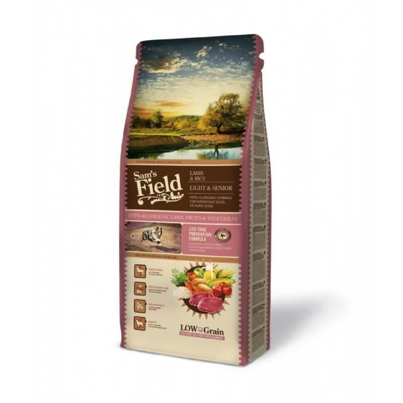 Sam's Field Light & Senior Lamb & Rice sausas maistas šunims